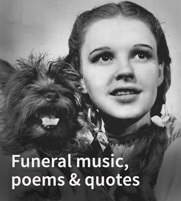 funeral music, poems and quotes