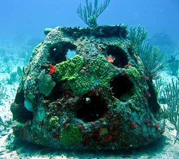 Burial at Sea, A memorial reef containing cremated remains, made by Eternal Reefs.