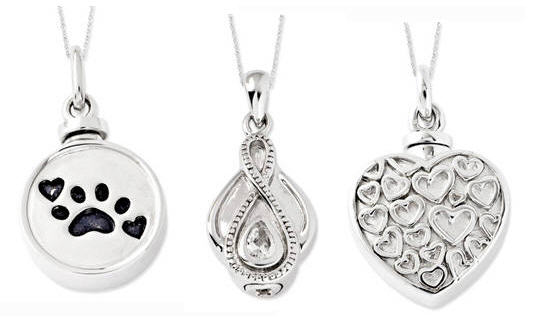 Cremation jewelry from Diadelrio