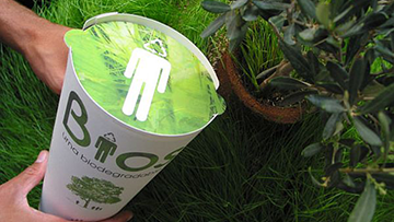 Bios Urn, a biodegradable urn designed to convert you into a tree after life.