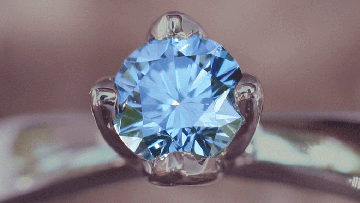 Life Gem, blue memorial diamond