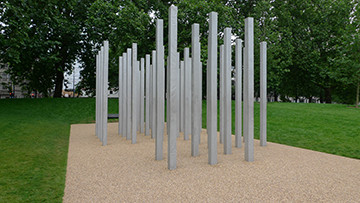 The memorial to the 52 victims who lost their lives during the 7/7 bombings in London in 2005