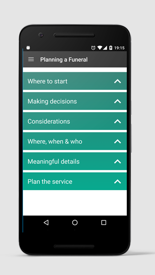 aftering funeral planning app