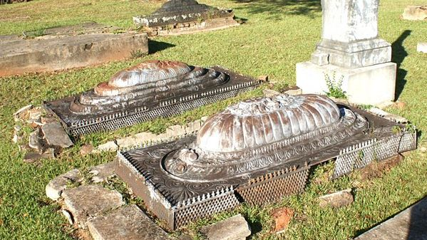Alabama's cast-iron grave covers