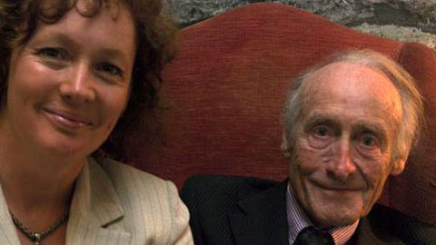 vivienne clarke and her late father who donated his body to medical science
