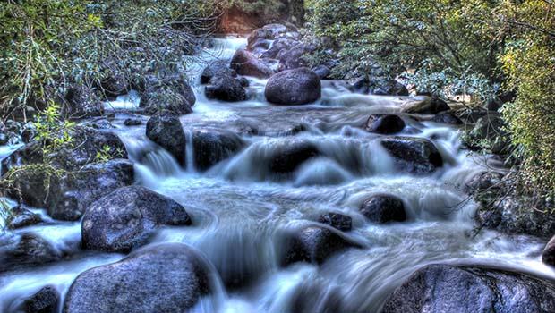 wairere falls stream rocks