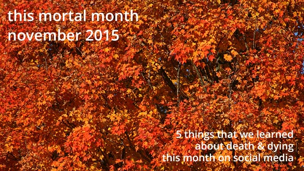This mortal month, feature image, November 2015