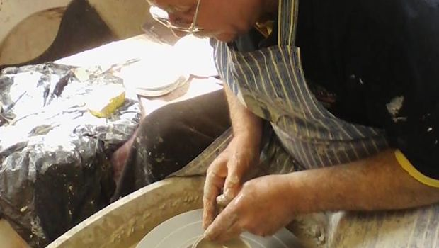 John Sherlock of Irish Ceramic Urns at work in his studio