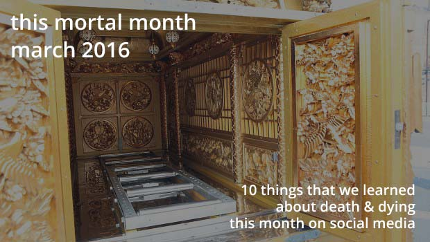 This mortal month feature image, March 2016