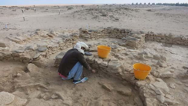 Abdulla al Kaabi on an archaeological dig on Marawah Island, UAE