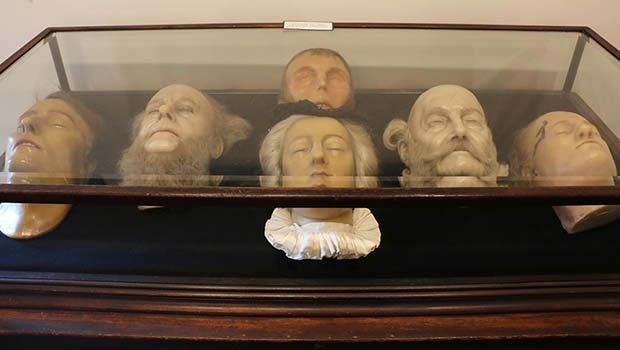 Death masks, including those of Napoleon, Henrik Ibsen and Mary Queen of Scots