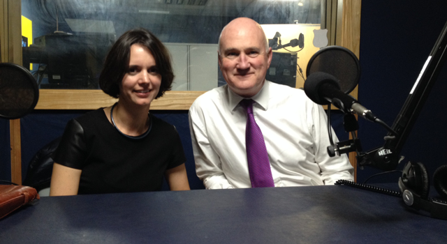 Mary Lovegrove and Brian Nolan from the Irish Hospice Foundation